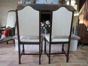 Chaise Louis Xiii : paire de chaises louis xiii artisans du patrimoine ~ Melissatoandfro.com Idées de Décoration