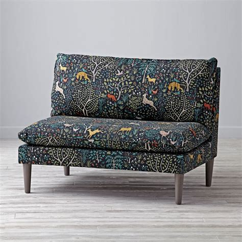 Upholstered Settee by Upholstered Settee Folkland Admiral The Land Of Nod