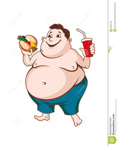 foto de Fat man stock vector Illustration of overeating male