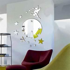 Stickers Effet Miroir : sticker miroir la f e et le monde toil ~ Teatrodelosmanantiales.com Idées de Décoration