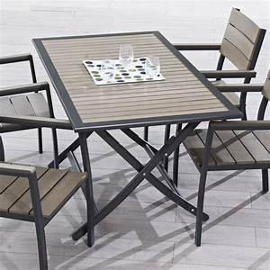 Table Jardin Pliable : table jardin pliable salon jardin bas maisonjoffrois ~ Teatrodelosmanantiales.com Idées de Décoration