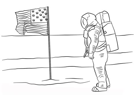 Astronaut Coloring Pages In Space Coloringsuitecom
