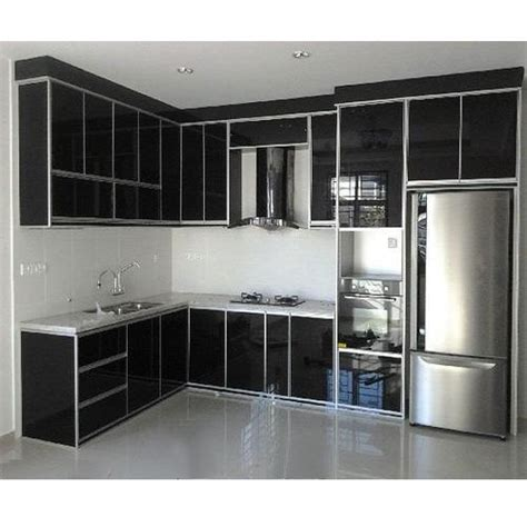 Cabinets Aluminum by Black Aluminium Kitchen Cabinet Rs 450 Square