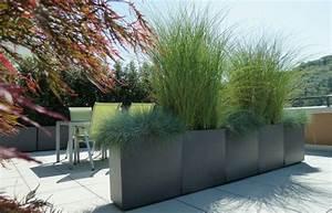 Gräser Sichtschutz Immergrün : die unterschiedlichen gr ser trennen lounge und essbereich in zwei verschiedene terrassenr ume ~ Buech-reservation.com Haus und Dekorationen