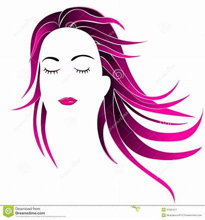 Clipart Parlour Hairstyle Face Beauty Illustration Mallow