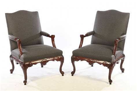 pair labeled statesville chair co arm chairs