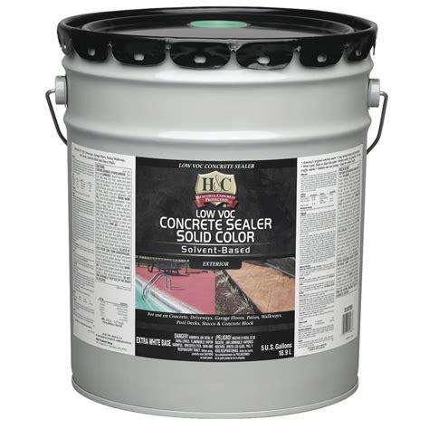 shop h c 5 gallon solvent based concrete sealer at lowes