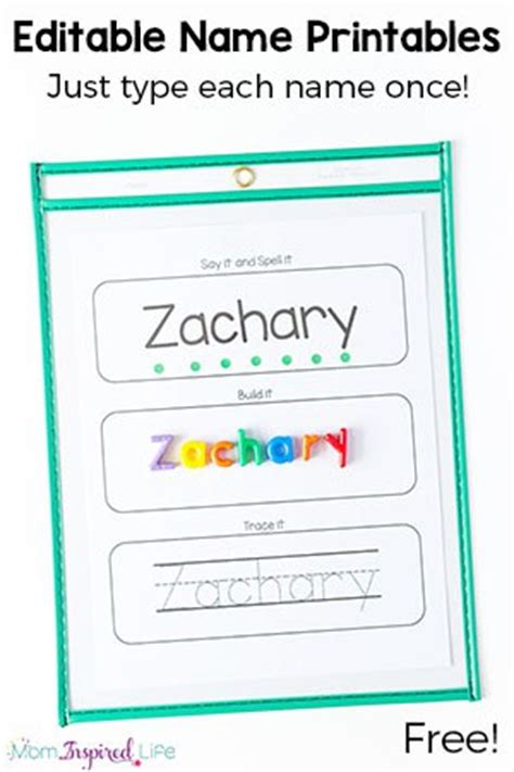 editable name spelling and tracing printables 354 | Name Spelling and Tracing Sheets Feature