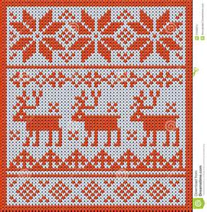 knitted pattern with reindeer and jacquard flowers stock images image 31535614