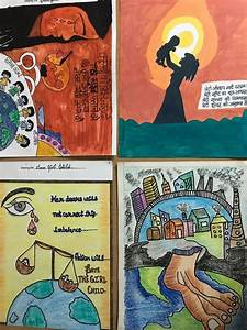 Poster Making On Social Issues Jagat Jyoti Model High