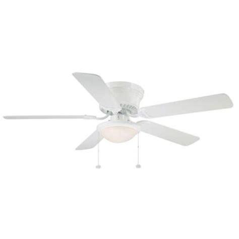 hton bay hugger 52 in white ceiling fan with