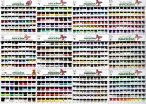 Madeira Embroidery Thread Color Chart