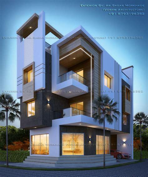 modern residential house bungalow exterior  ar