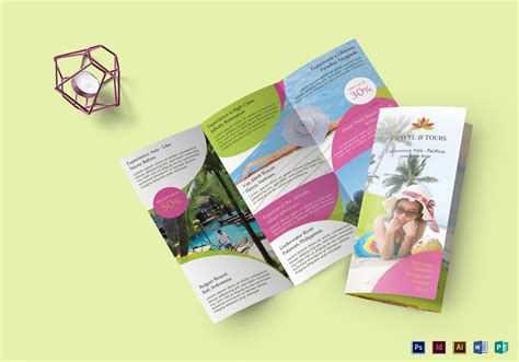 travel   brochure design template  psd word