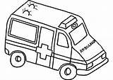 Ambulance Drawing Van Transportation Coloring Printable Drawings Getdrawings sketch template
