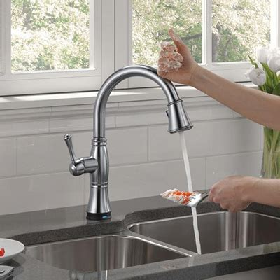 Touch Kitchen Sink Faucet by Kitchen Faucets Quality Brands Best Value The Home Depot