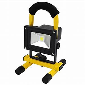 Emergency battery flood lights : Portable rechargeable cordless led work light flood