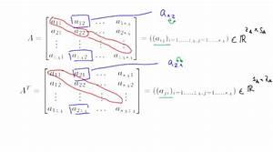 Transponierte Matrix Berechnen : mathematik nachhilfe videos vorlesungen bungen i matrizen mathematik f r ~ Themetempest.com Abrechnung