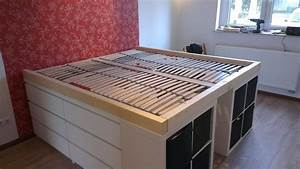 Ikea Hacks Podest : ikea hackers bedroom loft storage bed from cheap ikea furniture genius for our small bedroom ~ Watch28wear.com Haus und Dekorationen