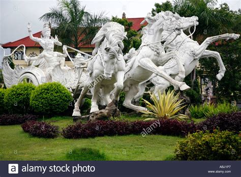 traffic roundabout  gianyar bali indonesia stock photo