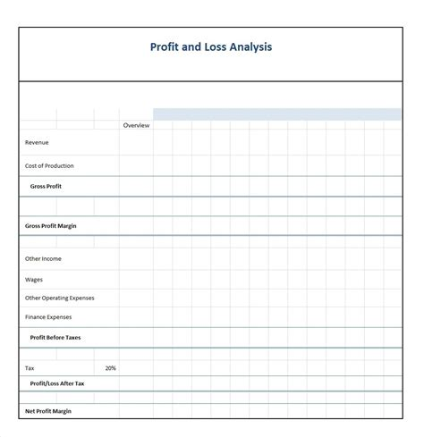 Profit And Loss Template 35 Profit And Loss Statement Templates Forms