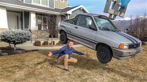 Destroying A Car In My Front Yard!-youtube