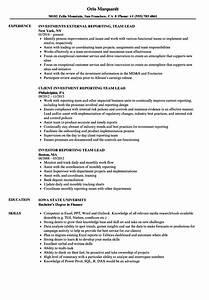 Resume Samples For Supervisor Reporting Team Lead Resume Samples Velvet Jobs