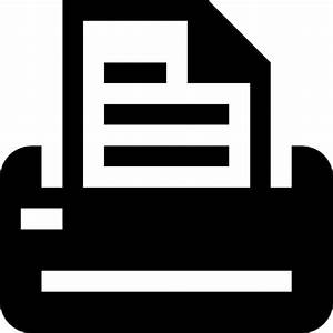Printer with printed paper Icons | Free Download