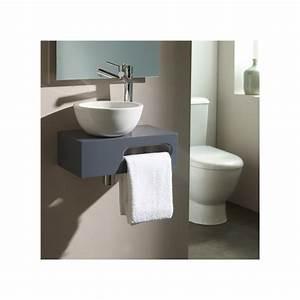 Lave Main Pour Wc : lave main suspendu pas cher meuble design gris planetebain ~ Premium-room.com Idées de Décoration