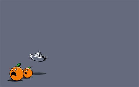 Aesthetic Orange Minimalist Wallpaper by Minimalistic Orange Oranges Grey Background