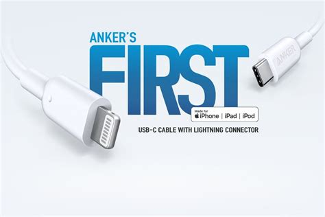 Anker's First Made For Iphone Usb-c To Lightning Cable Is