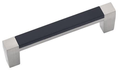 loft satin nickel with black cabinet pull 3 quot traditional cabinet and drawer handle pulls
