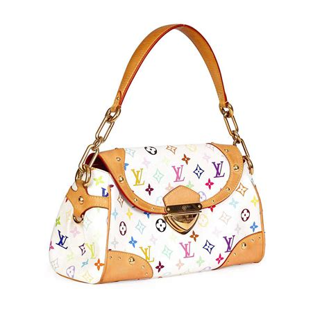 louis vuitton multicolor beverly mm white luxity