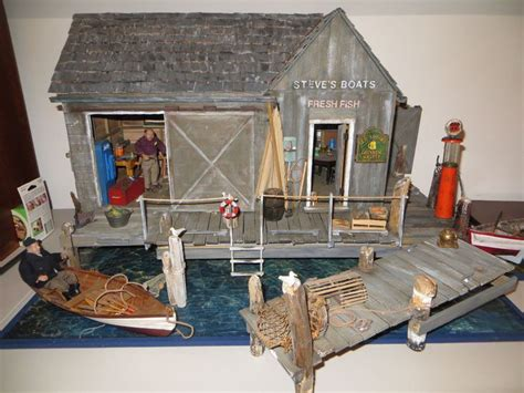 dollhouse miniature artisan darby magnificent boat yard roombox display dollhouse miniatures