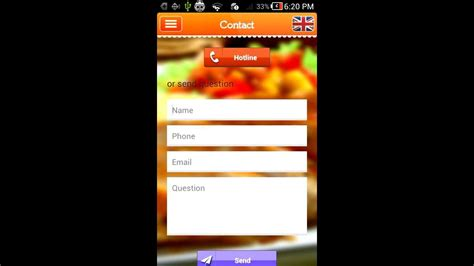 application cuisine android project template restaurant reservation android app