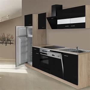 Küchenzeile 280 Cm : respekta k chenzeile kb280esscgke breite 280 cm schwarz bauhaus ~ Frokenaadalensverden.com Haus und Dekorationen