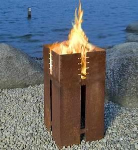 Keilbach feuerstelle ferrum greenbop online shop for Feuerstelle garten mit pflanzkübel außen beton