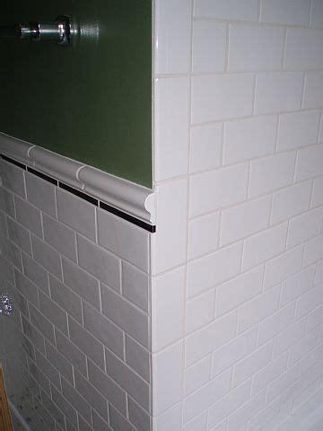 chair rail    corner ceramic tile