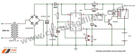 Battery Charger Circuit With Auto Cut Off