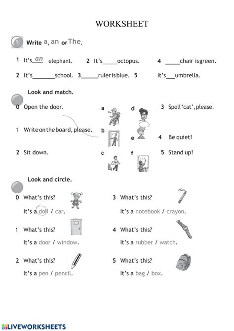 grammar worksheet interactive worksheet