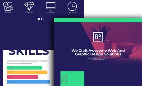 Free Html5 Bootstrap Creative Agency Website Template For