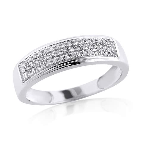sterling silver wedding bands mens diamond ring 0 34ct