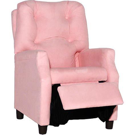 child recliner chair walmart deluxe recliner pink microfiber walmart