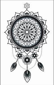 Attrape Reve Tatoo : faux tatouage mandala attrape reve kolawi ~ Nature-et-papiers.com Idées de Décoration