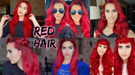 How To Dye Dark Hair Bright Red Without Bleach Youtube