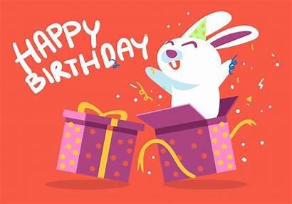 Birthday Happy Animal Rabbit Vector Vecteezy 1st