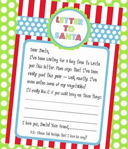 amanda39s parties to go letter to santa freebie With a letter to santa for free