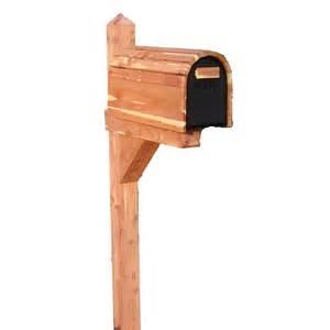 Natural Wood Mailbox Post Cpp14
