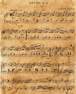 Vintage Music Notes Background | www.pixshark.com - Images ...
