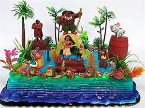 Disney MOANA Birthday Cake Topper Party Decor Set 12
